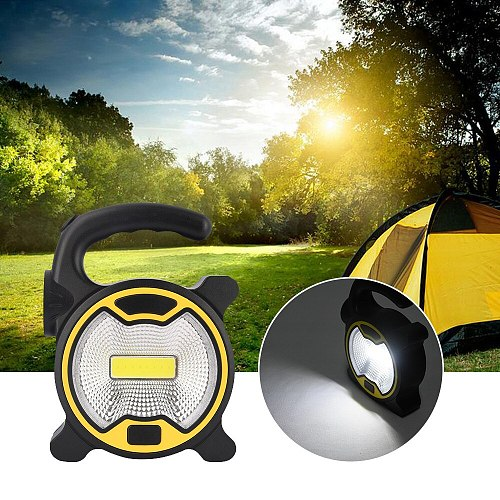Portable LED Floodlight 5W COB LED Outdoor Garden Work Battery Powered Spot Lamp Tent Light Floodlight for Camping Light