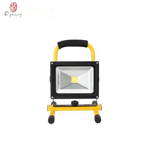 LED Portable Floodlight 20W Rechargeable Spotlight Lithium-ion Battery Outdoor Emergency Camping Fishing Night Work IP65 Dynasty
