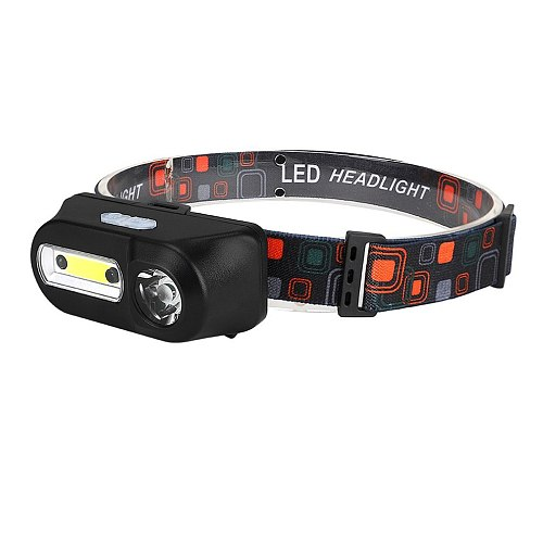Portable Mini Multi-function Headlight With USB Rechargeable Head Torch Super Bright Waterproof Headlamps
