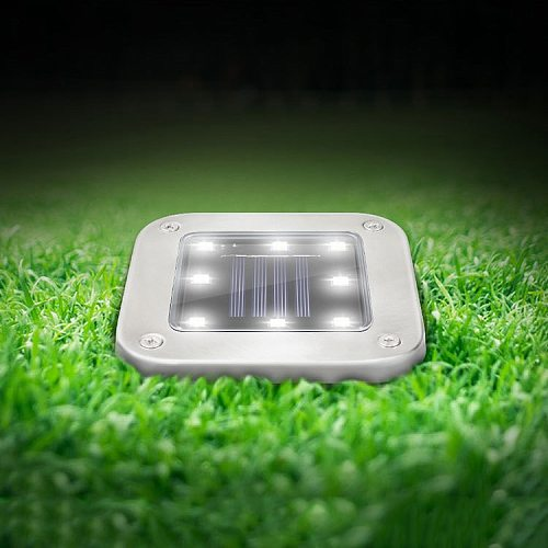 5W Solar Square Underground Buried Light LED Super Bright Safe Waterproof Landscape Decoration Lamp Lawn Lights With 8 LED Deads
