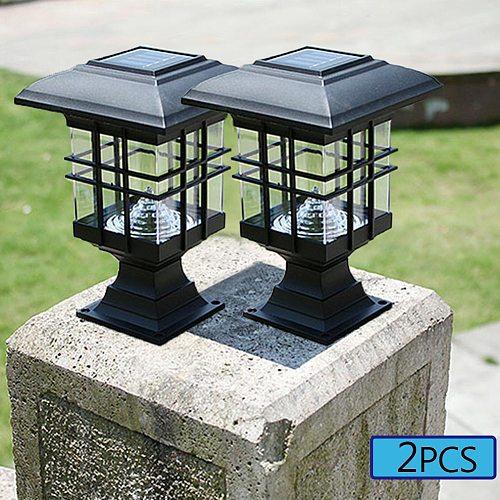 Palace Lantern LED Solar Light Powered Outdoor lighting Garden Yard Landscape Gardening Pathway Decoration Light Sensor lamps