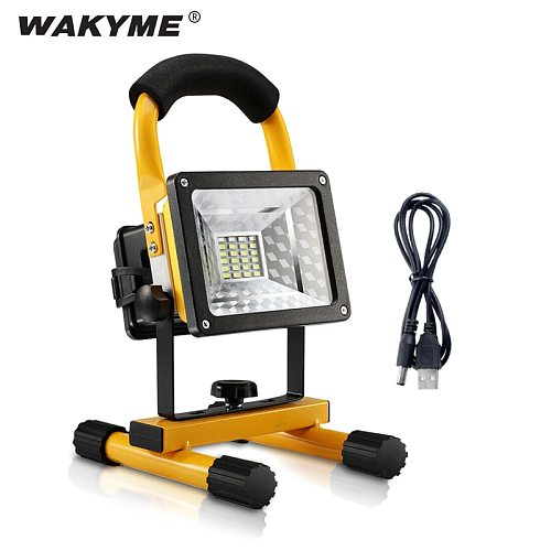 WAKYME 30W COB Work Lamp LED Garden Light Portable Outdoor Floodlight Rechargeable Camping Light Rotatable Spotlight Searchlight