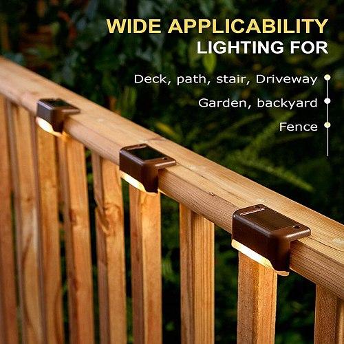 Outdoor garden step light IP65 Waterproof Solar Street lamp 1/4/8/12PCS LED Light for Landscape Step Deck Balcony Fence lighting