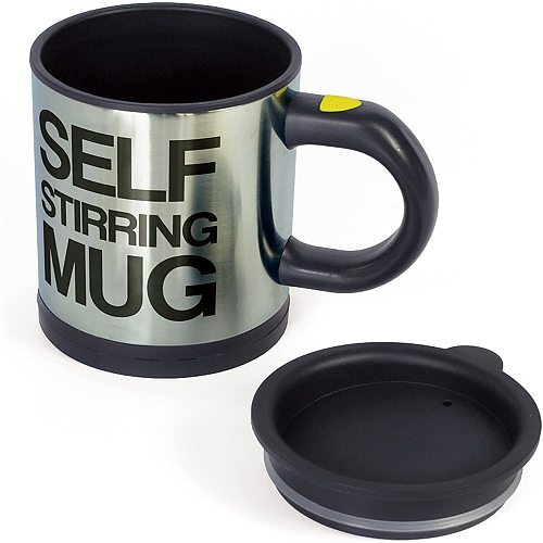 Automatic Self Stirring Coffee Mug Cup Electric Stainless Steel Self Mixing Spinning Home Office Travel Mixer Milk Whisk Cup Mug