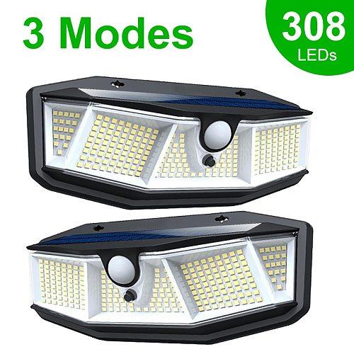 308 180 100 LED Solar Light Outdoor Solar Lamp with Motion Sensor Light SunLight Street Lamp LED Spotlight for Garden Decoration