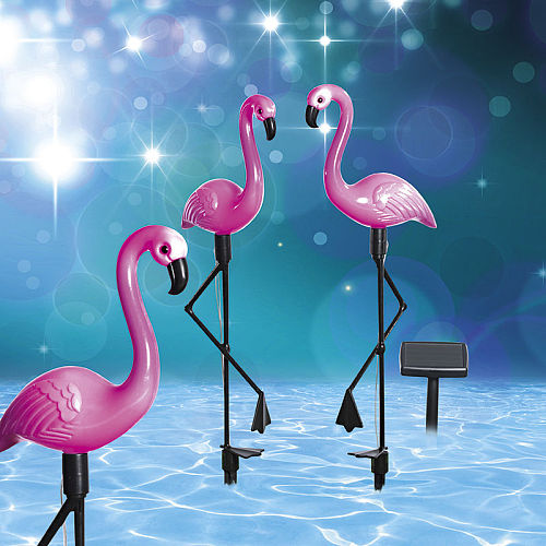 3pcs LED Solar Garden Light Flamingo Lawn Lamp Waterproof Solar Led Lights Outdoor For Garden Decoration Parties