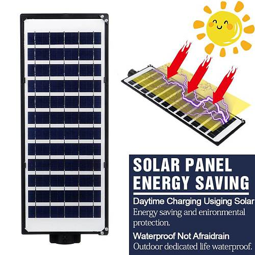 1120 LEDs Solar Street Light with Remote Controller Outdoor Lighting PIR Motion Sensor Light Control Garden Patio Wall Lamp