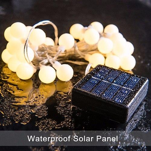 Welpur Led Solar Lamps Outdoor 5m 7m 12m Power LED String Fairy Lights Solar Light Garden Christmas Party Decoration String Ligh