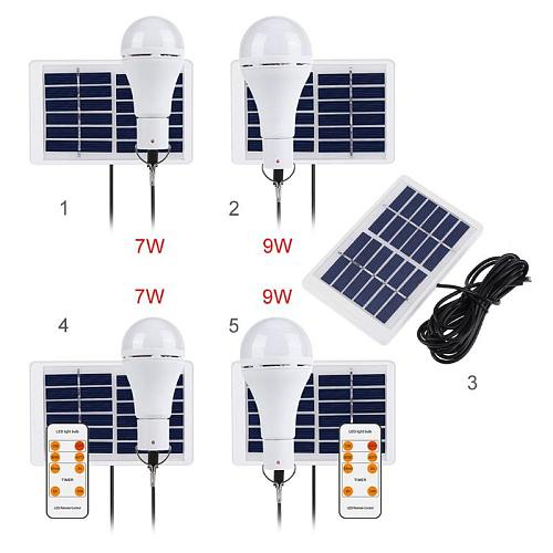 5 Modes 20 COB LED Solar Light Bulb Portable hang lamp USB Rechargeable Energy Bulb Lamp for Outdoor Camping Solar Tent Lamp