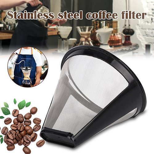 Stainless Steel Coffee Filter Strainers Reusable Coffee Dripper Handmade Coffee Accessories for Home Office GHS99