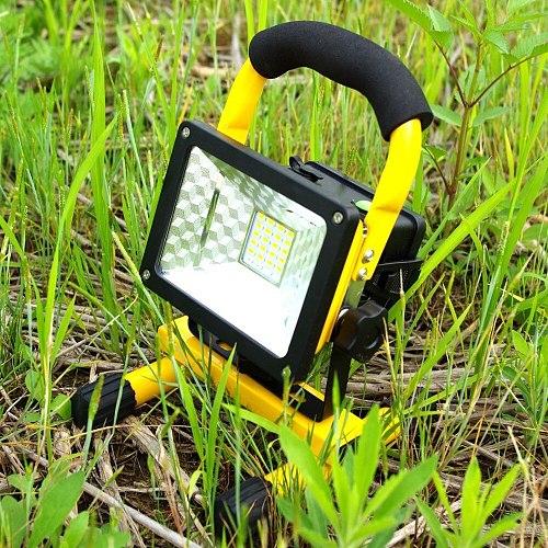 Rechargeable LED Flood Light 24 LED Floodlight Waterproof 220V/110V LED Spotlight Outdoor Emergency Work Lighting with Charger