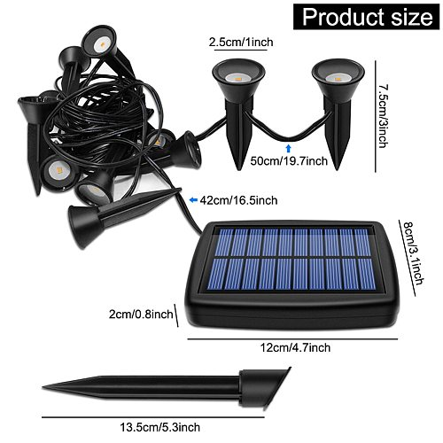 New Style Garden Lawn Solar Powered Outdoor LED Light Path Landscape Waterproof IP44 Mini Solar Flood Lawn Lamp