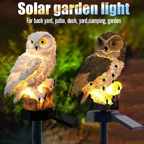 Novelty Solar Garden Lights Owl Ornament Solar Lamp Outdoor LED Light Energy Saving Light Portable Night Light Garden Decor