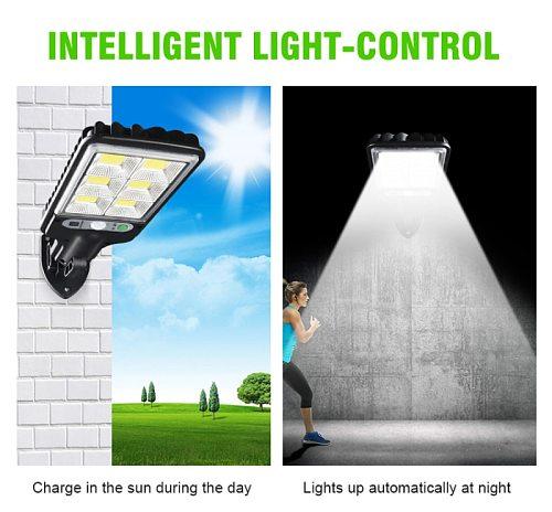 1Pc COB Solar Lights Outdoor Solar Powered Lamp Sunlight Wall Light PIR Motion Sensor Waterproof Street Light Garden Decoration