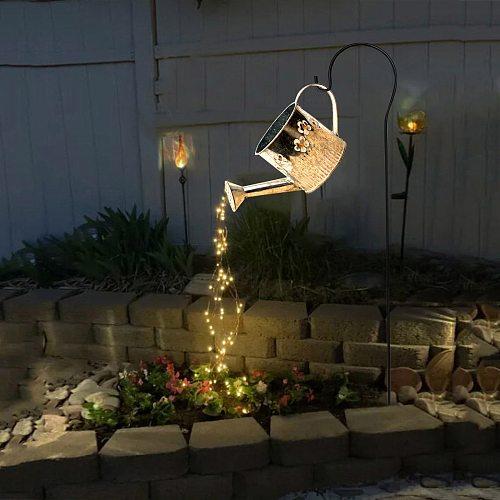 Landscape Lighting Star type Shower Sprinkler Watering Can Design Garden Art Light Decoration Outdoor Gardening LED Lawn Lamp