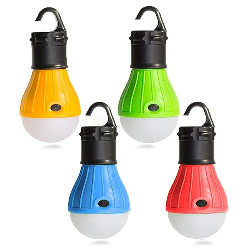 LED Bulb Camping Lantern Portable Emergency Outdoor Tent Light Handy Hook Torch Waterproof Lamp For Hiking Fishing