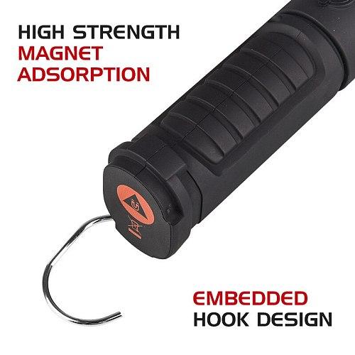 Portable COB LED Work light Tactical Flashlight 1500mAh USB Rechargeable Spotlight 360° Inspection Lamp Emergency Warning Torch