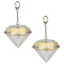 2 Pcs Solar Powered Diamond Light Decorative Hanging Lamp Outdoor LED Lights Hanging Landscape Lamp