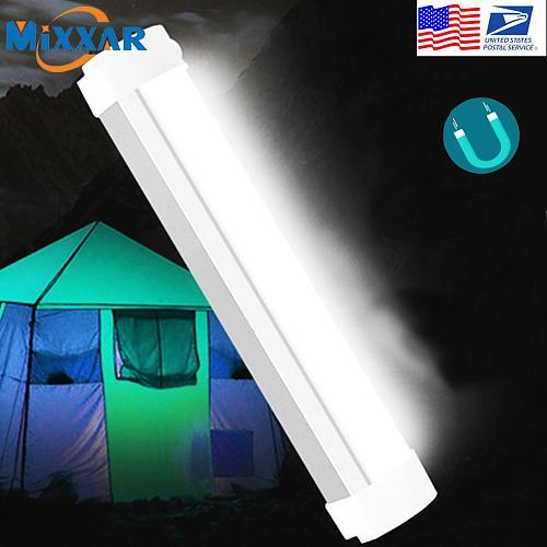 EZK20 Dropshipping Portable Lantern LED Camping Light Lighting Stick USB Rechargeable Magnetic Bar for Emergency Hiking Biking