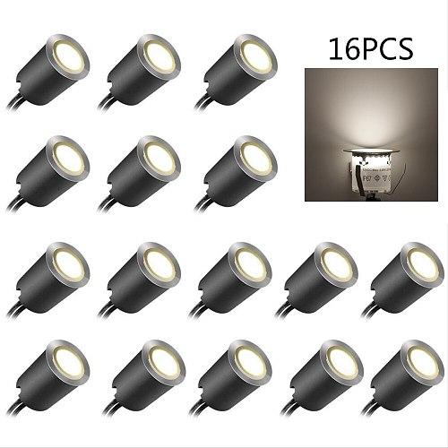 12V LED Deck Light Set IP67 Waterproof Underground Lamp Outdoor Landscape Lighting EU US UK for Yard Garden Pathway Stairs Patio
