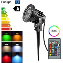 RGB LED Landscape Lights Waterproof 6/8/12W IP65 LED Garden Lighting Outdoor Lawn Lamp For Outdoor Yard 85-265V With Plug Remote