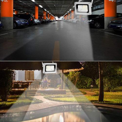 20W 6000K LED Floodlight Outside Outdoor Spotlight Light Security Light Waterproof LED Street Lamp Garden Lighting Led Reflector