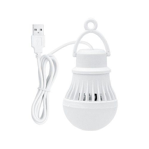 Portable Lanterns 3W USB LED Lamp Bulb 300lm 6500K White Night Light For Outdoor Hiking Camping Fishing Tent Travel Lighting
