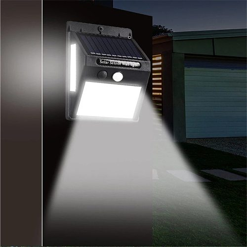 PIR Motion Sensor 20/100LED Sunlight Control 1/3 Sided Solar Energy Street Light Yard Path Home Garden Solar Lamp Wall Light