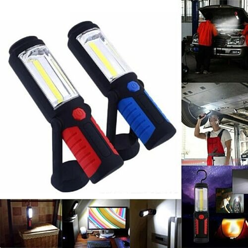 New Portable Spotlight Work Light Flashlight COB LED Worklight Rechargeable Magnetic Torch Portable Lighting Car Inspection Lamp