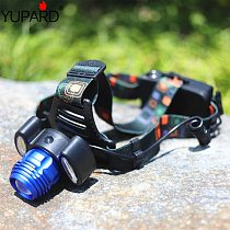 YUPARD Adjust Zoomable Zoom IN/OU T6 LED+2*COB LED Headlamp high bright focus Headlight Waterproof 18650 rechargeable battery