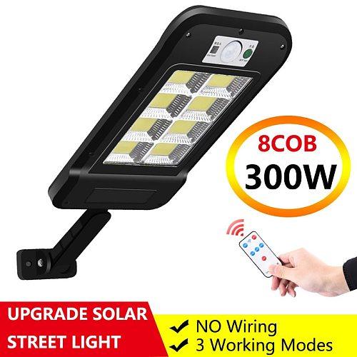 Upgraded Solar Street Light 6/8COB Remote Control IP65 Waterproof Outdoor Solar Wall Lamp PIR Motion Sensor Garden Street Lights