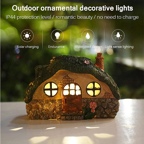Fairy House Solar Lamp Outdoor Waterproof Garden Lawn Lamp Led Light Outdoor Solar Light for Garden Decorative