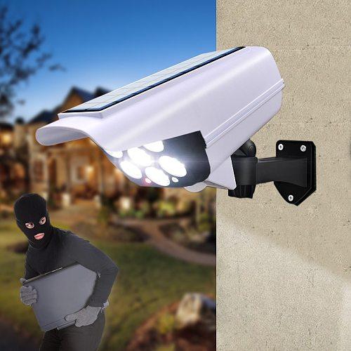 Outdoor LED Solar Wall Light PIR Sensor simulation camera Floodlight waterproof Street light for Garden Décor Security lights