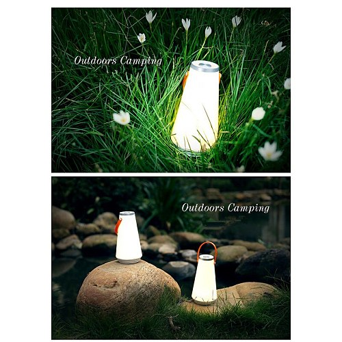 USB Rechargeable Touch Control Camping Emergency Light Bedside Lamp Creative Lovely Portable Wireless Night Light Hand Lamp