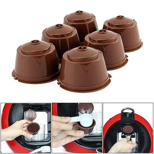 1PCS Reusable Capsule Coffee Cup Filter for Nescafe Refillable Coffee Cup Holder Pod Strainer for Coffee Machine Dolce Gusto