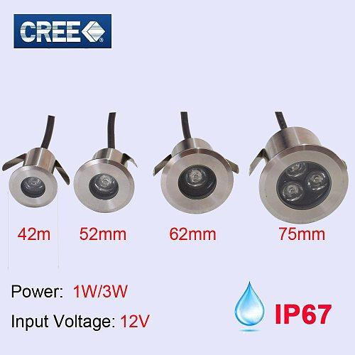 ip67 12V 24V 110V 220V buried light mini Outdoor waterproof LED underground light 1W 3W RGB red green blue 3W LED floor light