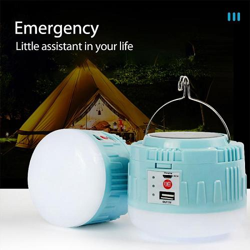 Solar rechargeable camping light household LED emergency light mobile power supply  Portable Lanterns Lighting Flashlight Hot
