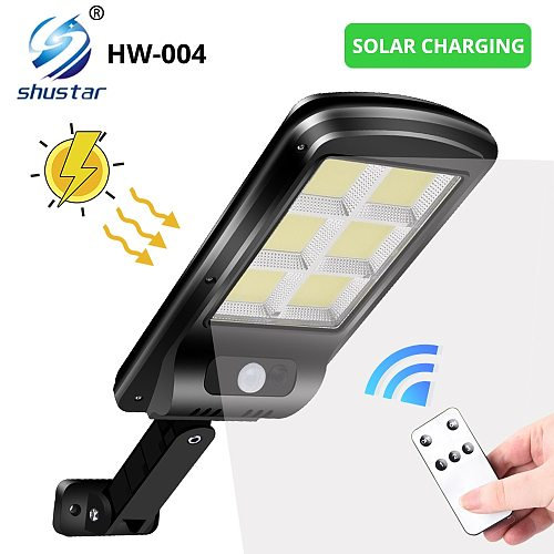 Powerful Outdoor Solar light Wall Street Light With IR Motion Sensor IP65 Waterproof  With Remote Control 450 square meters