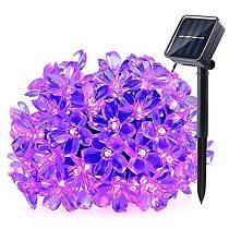 7M LED Solar String Festoon Christmas Flower Light Outdoor IP65 Waterproof Cherry Blossoms Lamp For House Yard Garden Decoration