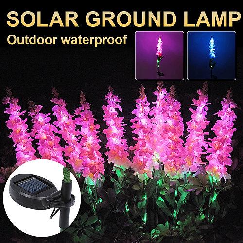 Solar Flower Light Violet Flower Lamp Led Garden Decoration Solar Light Waterproof Outdoor Landscape Lawn Lamp For Patio Yard