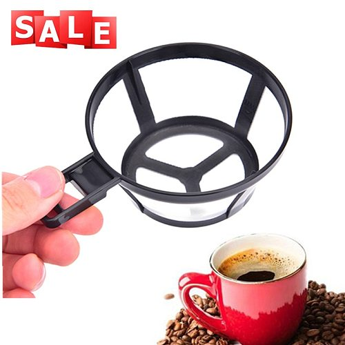 Reusable Coffee Pot Filter Holder Coffee Dripper Mesh Basket with Handle Cafe Kitchen Accessories Gadgets Tools Coffeeware