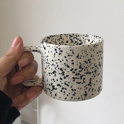 Creative Nordic Mug Ins Square Handgrip Cups Ceramics Mugs Coffee Mug Milk Tea Cups Drinkware