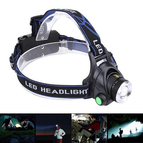 900Lm Led Lighting Head Torch CREE XM-L T6 Zoom Waterproof LED Headlamp Headlight Camping Fishing Light 2*18650 battery E5M1