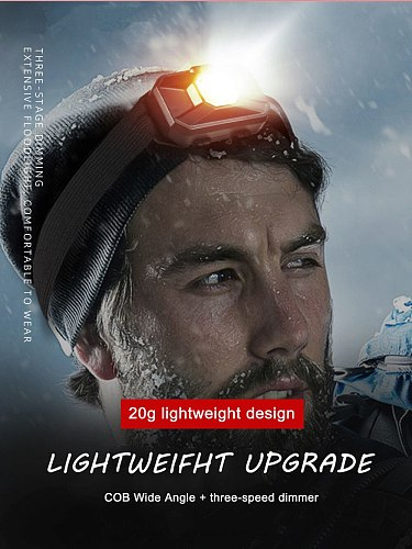 Portable Mini Flashlight Headlight LED 3 Modes Headlamp Camping Torch Light Use AAA Hiking Night Fishing Flash Light Head Band