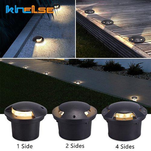 Waterproof IP67 LED Underground Lamp Outdoor Garden 1/2/3/4 Side 3W Embedded Floor Buried Spot Yard Path Landscape Deck Lights