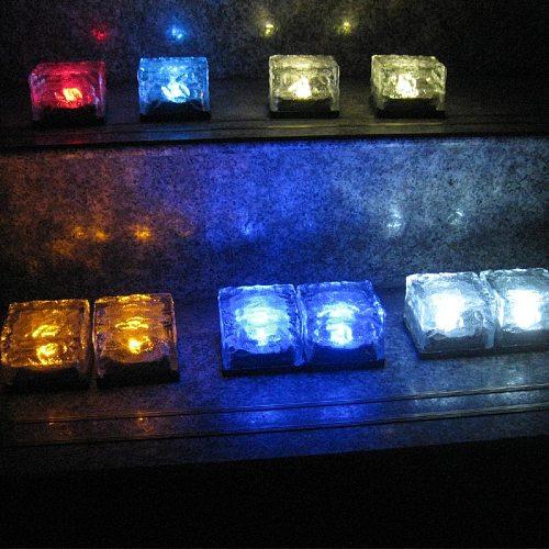The New Hot Solar Glass Brick Light - Solar Ice Cube LED Light - Crystal Brick Stone Lamp Garden Courtyard Pathway Patio Pool