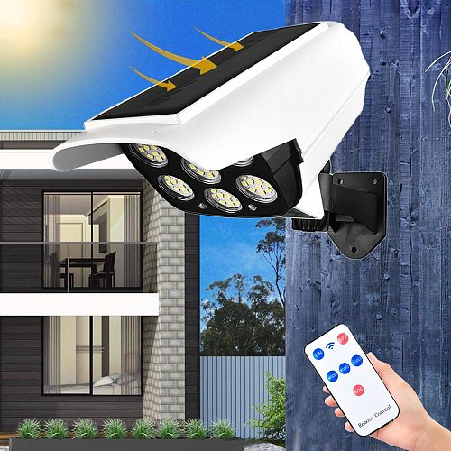 Solar Light Outdoors Garden 77LED Solar led Light Outdoor With Motion Sensor Dummy Camera Solar Lamp For Garden Security