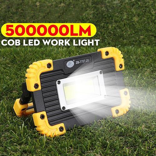 Portable Spotlight 500000lm Led 3 Modes Super Bright Saving COB LED Travel Light For Camping Lantern COB LED Lamp Use Battery