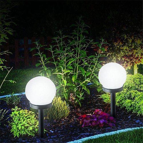 2Pcs/Lot LED Ball Light Lamp Solar Power Outdoor Garden Path Yard Lawn Road Courtyard Ground Lamps Waterproof Garden Decor New