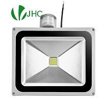 led flood light spotlight lamp 50W motion detective sensor 110-260V 10W 20W 30W floodlight outside lights with PIR sensor